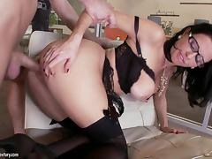 Slutty MILF in Glasses and Lingerie Veronica Avluv Fucked in the Office tube porn video