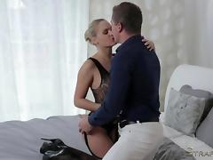 Hot woman in sexy stockings loves kinky sex tube porn video