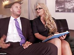 Foot Fetish Action in the Office with Horny Phoenix Marie tube porn video