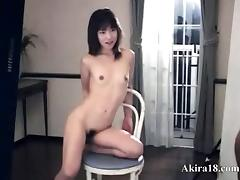 Petite 18yo girl from Japan gagging cock