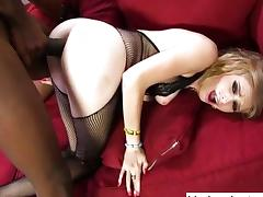 Mandingo drills nasty white whores asshole
