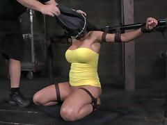 Blindfolded, BDSM, Blindfolded, Bound, Brunette, Deepthroat