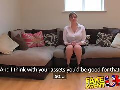 FakeAgentUK: Amateur British girl with huge tits gets multiple orgasms tube porn video