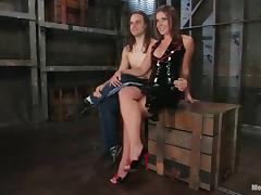 Penny Flame Rides His Dick after Fucking His Ass with Strapon in BDSM
