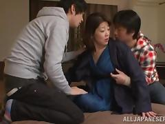 Threesome, Asian, Horny, Instruction, Japanese, Mature