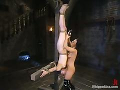 Harmony uses several type of bondage over Sandra Romain