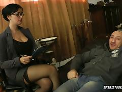 Asia Morante the psychotherapist gets fucked by a patient