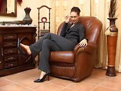 High heels and an accent. JOI tube porn video