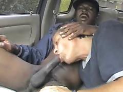 bbc full of cum gets sucked in car porn tube video