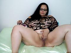 Fishnet, Amateur, BBW, Fishnet, Tease