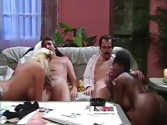 Classic Interracial Foursome tube porn video