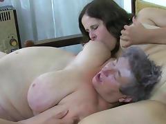 Bedroom, Bedroom, Brunette, Fat, Granny, Lesbian