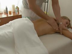 Sexy gal love tunnel massage