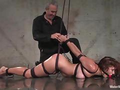 Choking, BDSM, Bondage, Bound, Choking, Curly