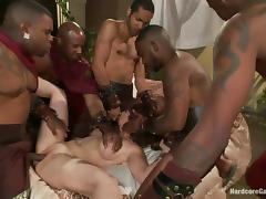princess ganged banged by black gladiators