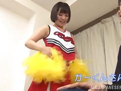 Cheerleader, Asian, Blowjob, Cheerleader, Handjob, Japanese