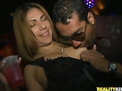 Vanessa Cage sucks a fat cock and gets her snatch pounded from behind