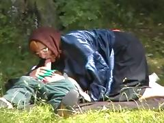 Granny Witch Fucks in the Woods tube porn video