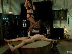 Bondage and Strapon Fucking for Guy Courtesy of Bobbi Starr