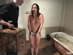 Horny Julie Night gets humiliated and face fucked porn tube video