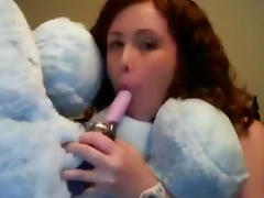 Curly-haired redhead is fucking in pussy