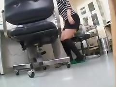 Breasty Japanese floozy got fingered and fucked by her gyno