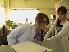 Kinky Jap doc fucks her patient during a Gyno exam