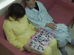 Chubby girl in Japanese hardcore action in hospital tube porn video