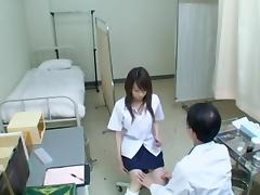 Asian teen babes get naked during their medical exams tube porn video