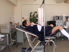Hidden cam video with an asian twat examined by gynecologist