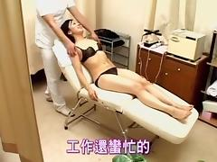 Delicious Asian babe stuffed with dick during Gyno exam tube porn video