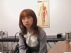 Skinny Japanese fingered and toyed during a medical exam tube porn video