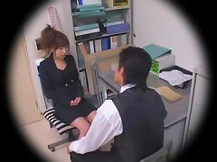 Jap cutie smacked hard in hidden cam office sex video