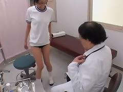Kisha exposes her dripping tunnel of love in the gyno clinic tube porn video