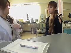 Female Japanese gynecologist fucks her awesome patient
