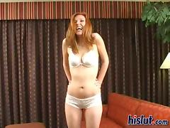 Sally is a cheap ginger whore addicted to cum tube porn video