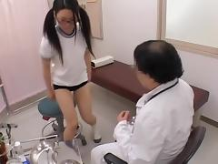 Schoolgirl's asian pussy gets examined at the medical clinic tube porn video
