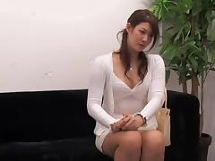 Adorable Jap rides a ramrod in hidden cam interview video tube porn video