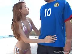 Beach, Asian, Beach, Bikini, Couple, Japanese