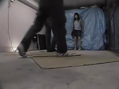 Top sharking movie with japanese cunt plugged by two rods
