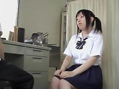 Asian hairy twat is drilled by me at the medical clinic tube porn video