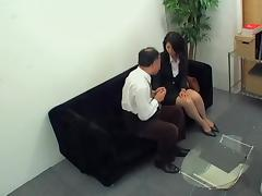Japanese hottie rides a pecker in hidden cam Asian sex video