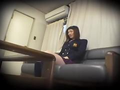 Big booty Japanese crammed in Asian sex hidden cam video