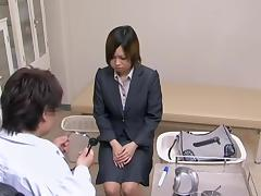 Japanese whore got fucked by her endowed gynecologist tube porn video