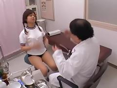 Gyno spy video with horny doctor fingering an asian pussy tube porn video