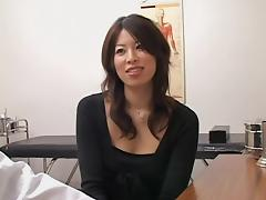 Adorable Jap slut crammed from behind during a medical exam porn tube video