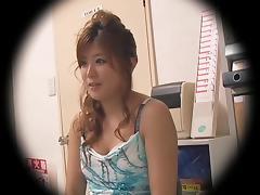 Jap cutie gets nailed hard in hidden cam Japanese sex video