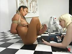 Exotic babe is exposed to some most severe insertions