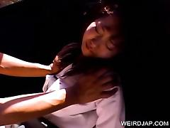 Japanese schoolgirl kidnapped and fucked in a van
