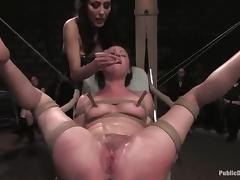 HOrny sex slave Sindee is being tortured by a couple